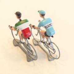 比利時自行車手金屬模型Bianchi/Italian
