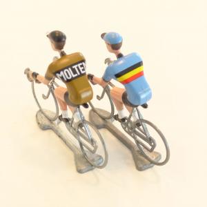 比利時自行車手金屬模型-Molteni